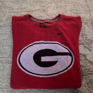 "UGA ""G"" T-shirt- Nike slim fit- size M"